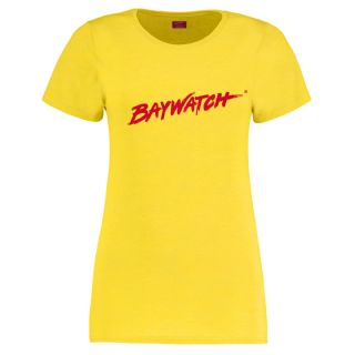 Licensed Baywatch Yellow T-Shirt | Lifeguard Gear